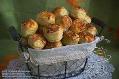 Füstölt sajtos-krumplis pogácsa hajtogatás nélkül Scones, Potato Salad, Muffin, Potatoes, Breakfast, Ethnic Recipes, Food, Morning Coffee, Muffins