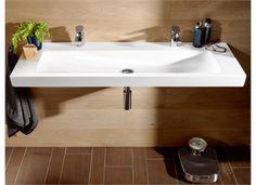 V&B Subway Møbelservant mm, 2 blanderhull Sink Design, Cabinet Design, Subway 2.0, Villeroy Boch Subway, Bidet, Wooden Vanity, Vanity Organization, Countertops, Small Spaces