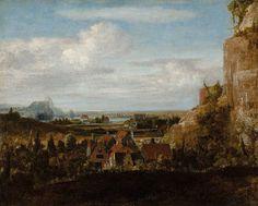 Hercules Seghers Rivierdal met huizen. Ca. 1625. Rotterdam, Museum Boijmans Van Beuningen.