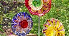LaBelladiva: DIY Glass Garden Flowers