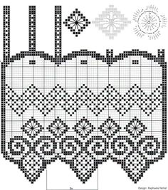 Irish lace, crochet, crochet patterns, clothing and decorations for the house, crocheted. Filet Crochet, Crochet Borders, Crochet Art, Crochet Home, Irish Crochet, Lace Patterns, Stitch Patterns, Crochet Patterns, Crochet Curtains