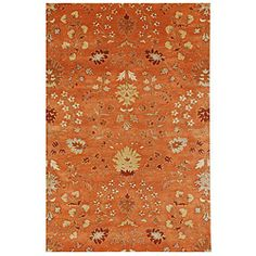 From Overstock... $952.99. Is that a good price for a rug? And apparently I'm thinking orange for the living room.