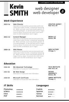 Find the Grey Web Designer Resume Template on www.cvfolio.com