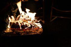 Spring night fire