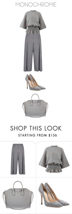 """""""One Color, Head to Toe"""" by bonolon on Polyvore featuring Karen Millen, STELLA McCARTNEY, Givenchy, Gianvito Rossi and monochrome"""