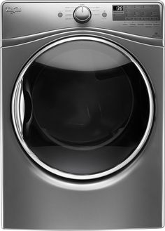 Whirlpool - 7.4 Cu. Ft. 10-Cycle Electric Dryer with Steam - Chrome Shadow