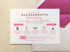 Letterpress Bachelorette Invitations