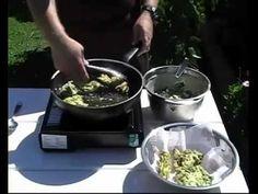 Buñuelos de cebolla de verdeo - bunuelos de cebolla tierna - YouTube