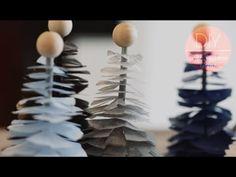 DIY: Christmas trees with tissue paper by FrkHansen.dk and Søstrene Grene
