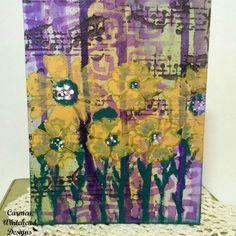 Mardi Gras Inspired Canvas Board #tcwstencillove