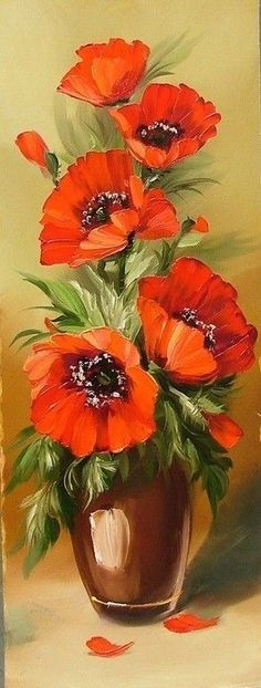 Das Foto Source by armanbaghban. Art Floral, Watercolor Flowers, Watercolor Paintings, Flower Art Drawing, Illustration Blume, Acrylic Painting Techniques, Beginner Painting, Tole Painting, Pictures To Paint
