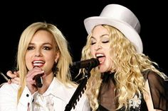 Britney has made a guest appearance during Madonna's Sticky and Sweet tour
