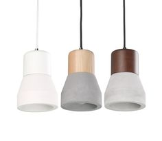 Henge Concrete Mini Ceiling Pendant Light - Angled Shape - CLA, $139.00