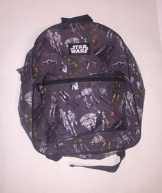 STAR WARS Official Product Gray Yoda Storm Troopers Chewbacca Darth BACKPACK