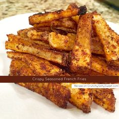 Crispy Seasoned French Fries – Crunchy Salty SweetYou can find French fries and more on our website. Seasoned French Fries Recipe, Oven Baked French Fries, Seasoned Fries, Air Fryer French Fries, Crispy French Fries, Homemade French Fries, Homemade Fries In Oven, Air Fryer Fries, Best French Fries