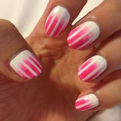 mrcandiipants:  White to neon ombré with fading white stripes....