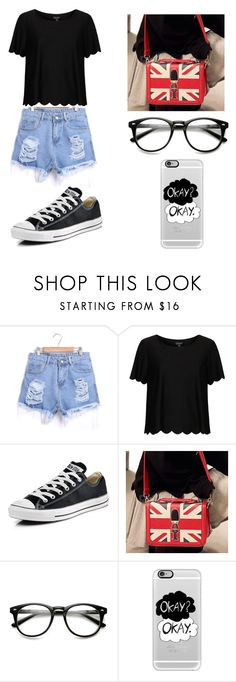 """Untitled #67"" by karenrodriguez-iv on Polyvore featuring Topshop, Converse, PG Beauty, Casetify, women's clothing, women's fashion, women, female, woman and misses"
