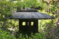 Stone lantern in Shin'en Garden in Heian jingu shrine, Kyoto-