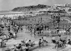 Gordon Pool, Tel Aviv by Rudi Weissenstein, 1957