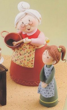 by Carlos Lischetti Polymer Clay Ornaments, Polymer Clay Christmas, Polymer Clay Crafts, Foam Crafts, Diy And Crafts, Dad Cake, Grandma Cake, Rodjendanske Torte, Fondant People