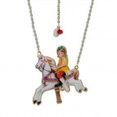 N2 Necklace Carousel  Welcome to the Fun Fair! Reminder of childhood, rediscover with this collection carousel horses, candyfloss and multicoloured ballons. Young Julie will guide you in this enchanted universe. Let the magic take you away and the stars sparkle in your eyes !