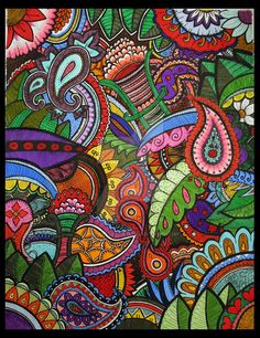 Rainbow Paisley by estrellita7 on DeviantArt