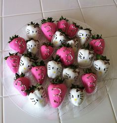 Hello Kitty strawberry party platter