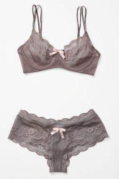 anouk lingerie set in mauve