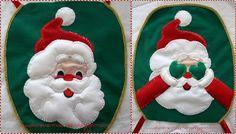 Molde capa de vaso papai Noel em feltro