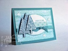 Festival of Trees in Blue by JanTInk - Cards and Paper Crafts at Splitcoaststampers