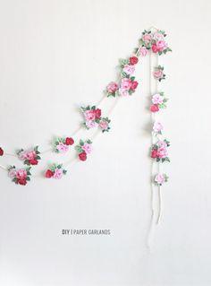 DIY Paper Garland : DIY Paper Garlands for Spring