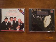 2 Classical CD Albums Stern 60th Anniversary and Verdi Preludes & Overtures Classicsncollectiblesbycheryl.com