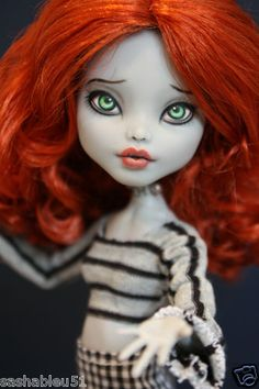 """OOAK Custom Monster High Doll Repaint with Outfit """"Lydia"""" by Artist Sashableu 