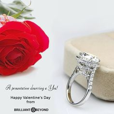 Congratulations in advance to all the engaged and soon to be engaged couples. We wish you a Very #HappyValentinesDay Shop: brilliantbeyond.com #brilliantbeyond #engagementring #engaged