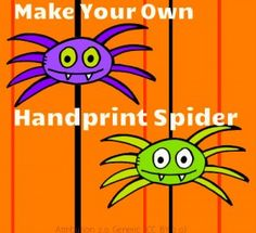 Make your own handprint spider. Great enrichment activity after students have read about Spiders!