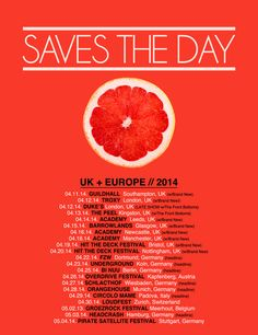 Saves The Day - Tour Dates