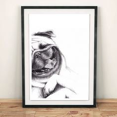 This is one super happy little guy,guaranteed to make anyone smile.Based on an original drawing, it isprinted onto 250gsm finely textured matte paper and fits nicely into an A4 frame.  Frame not included.