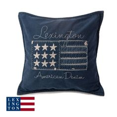 HOME-ROYAL - Lexington Kissen Denim Flag Sham