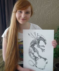 """My First Alien"". Drawn by 15 yr old artist Emka Klučovská"