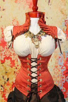 Waist 43 to 45 Autumn Orange Ruffle Collar by damselinthisdress, $139.00