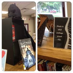 Our two newest displays! #Superheroes #Music