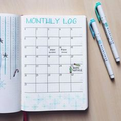 This is my monthly log for December! ⛄️I can't wait to fill it with new things to do. . Questa è la visione mensile di Dicembre! 🎄Vi piace? / #qualcosadierre #bulletjournal #bujojunkies #bulletjournalitalia #bujolove