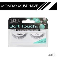 This ultra lightweight fibers and soft flex-fit lash band gives you a comfortable wear for any day or night time look! #MondayMustHaves  Ardell Soft Touch Lashes are available at CVS