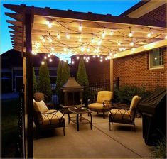 The pergola you choose will probably set the tone for your outdoor living space, so you will want to choose a pergola that matches your personal style as closely as possible. The style and design of your PerGola are based on personal Outdoor Pergola, Pergola Lighting, Wooden Pergola, Backyard Pergola, Outdoor Decor, Pergola With Lights, Outdoor Spaces, Outdoor Patio Lighting, Pavers Patio