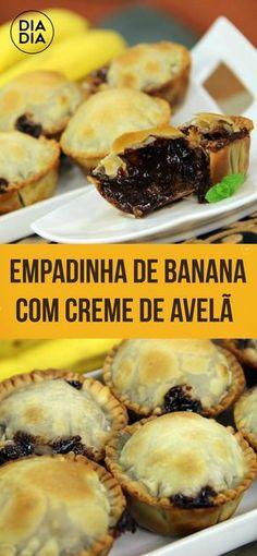 Empadinha de Banana com Creme de Avelã