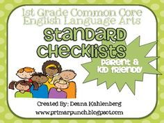 This packet contains 7 kid and parent friendly posters to help guide the teaching and understanding of the 1st grade common core standards. Posters...