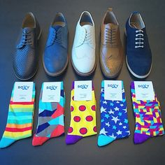 Men's socks from Soxy and dress shoes.