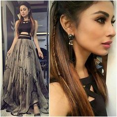 Ideas for moda juvenil outfits style Western Dresses, Indian Dresses, Indian Outfits, Indian Designer Outfits, Designer Dresses, Mouni Roy Dresses, Lehnga Dress, Lehenga Designs, Indian Wear