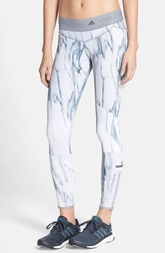 Free shipping and returns on adidas by Stella McCartney 'Run' Print Tights at Nordstrom.com. Keep your cool from start to finish line in paneled flatlock-seam leggings cut from adidas' top-notch moisture-wicking CLIMALITE® in an icy marbled print. A logo-stamped waistband and decal above the zip ankles credits your stellar workout look to Stella McCartney.