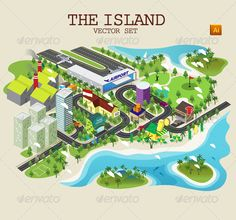 The Island Vector Set graphicriver.net/item/the-island-vector-set/5471565